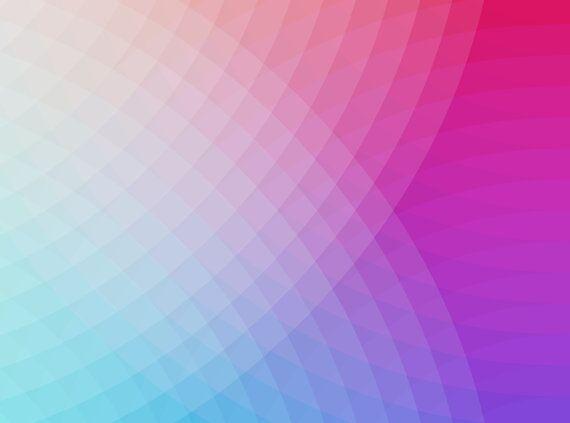 Blue-Pink Echo Spot Abstract Wall Art Print.