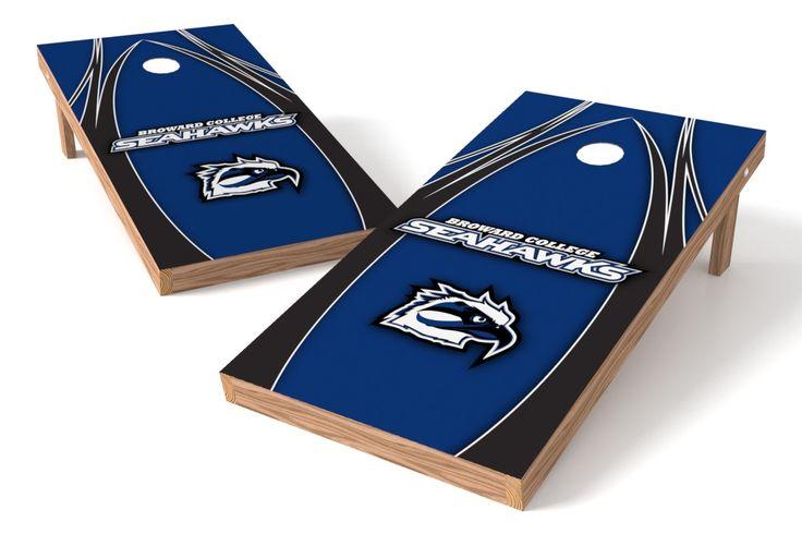 Broward College Seahawks Cornhole Board Set - The Edge