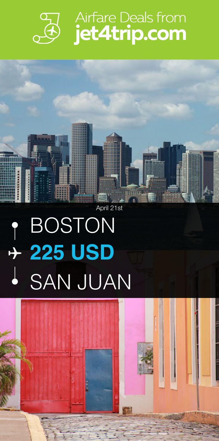 Flight from Boston to San Juan for $225 by Spirit Airlines #travel #ticket #deals #flight #BOS #SJU #Boston #San Juan #NK #Spirit Airlines