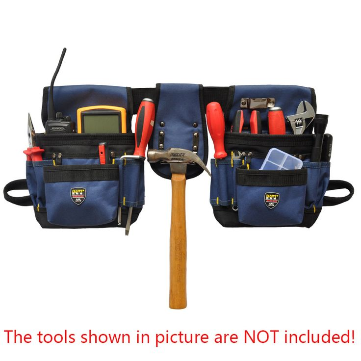 9d2f2937ce99 Hoomall Open Type To Strengthen The Double-linked Belt Electrician Bag  Repair Kits Electrician Tools Bag