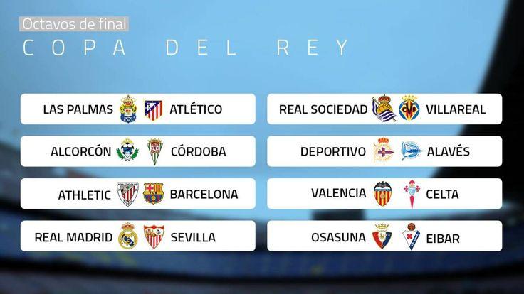 Madrid-Sevilla Athletic-Barça y Las Palmas-Atleti en los octavos de la Copa del Rey