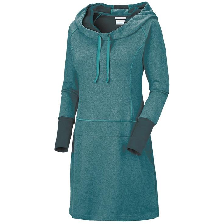Columbia Sportswear Heather Honey Dress - Hooded, Long Sleeve (For Women) in Blue Forest