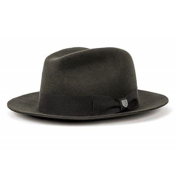 Brixton Men s Diego charcoal Felt hat fedora Indiana Trilby black Vintage  wide  mensaccessorieshats e1ca0f3489e