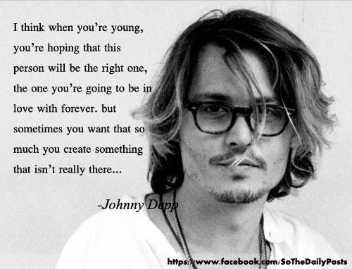 Johnny Depp #quote now he tells me