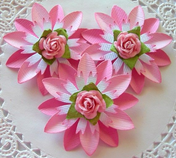 paper flowers with textured paper