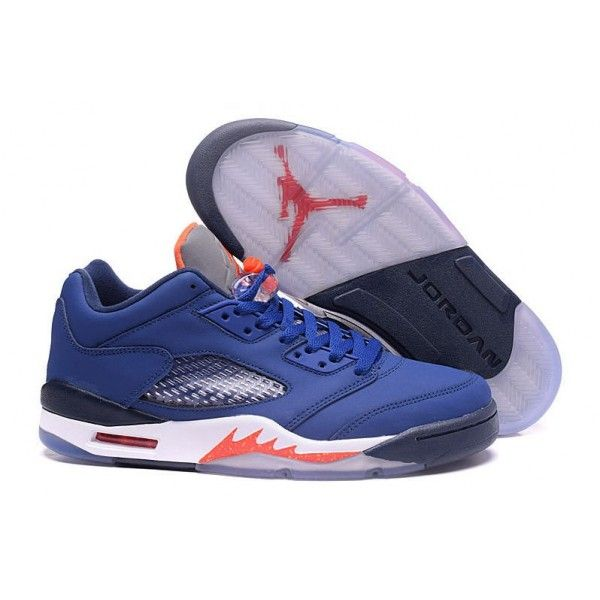 cheap air jordan 5 retro low deep royal blue team orange knicks outlet sale