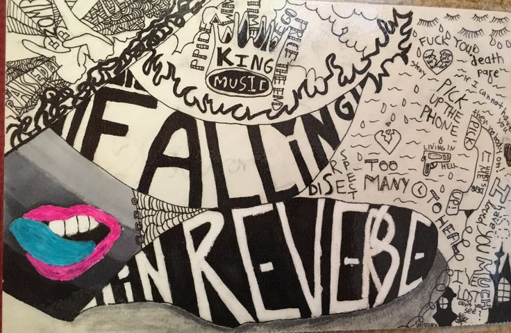 Painted the Cover by myself Falling in Reverse