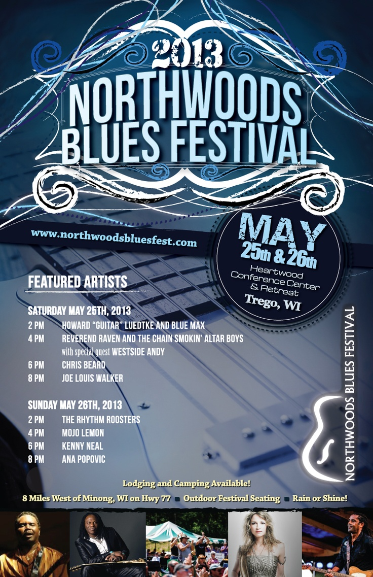 141 best Archive of Blues Festival Posters & Artwork images on ...