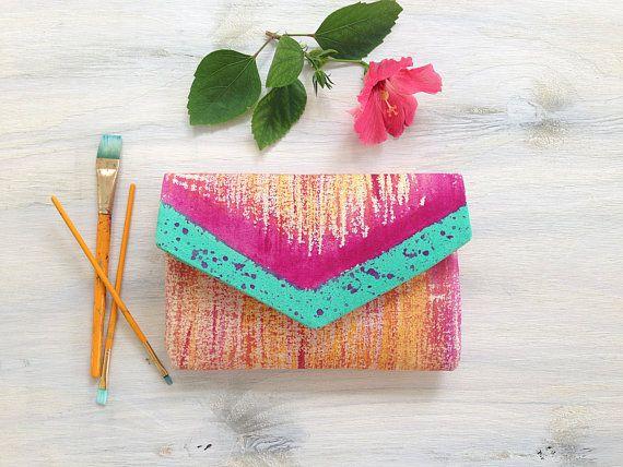 Handmade clutch envelope clutch aztec pattern by MyALaModeBoutique
