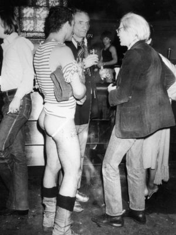Andy Warhol bumming around at Studio 54...
