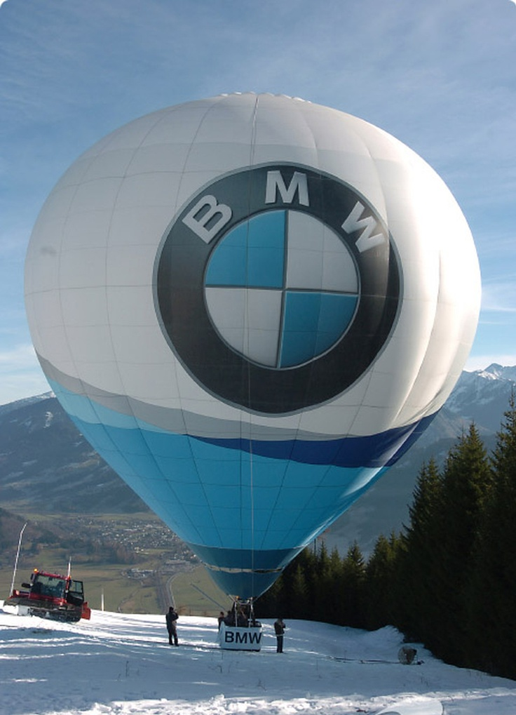 A big balloon with BMW logo. An interesting way to make brand known. Same way we spread your business logo everywhere.