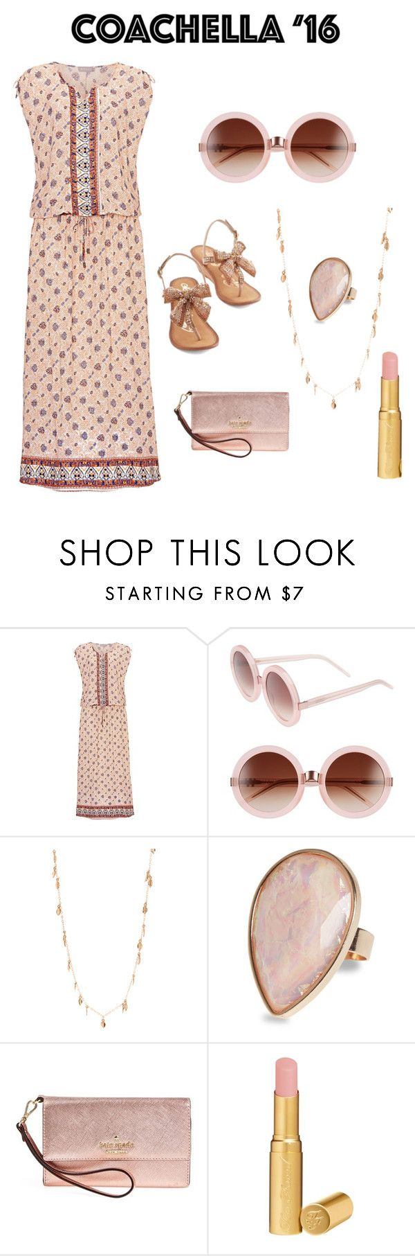 """""""coachella.outfit"""" by im-karla-with-a-k ❤ liked on Polyvore featuring Wildfox, Dinny Hall, Kate Spade and Too Faced Cosmetics"""