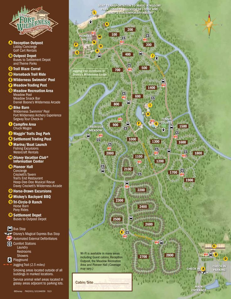Fort Wilderness Resort and Campground Map - it can be a little confusing to get around here.