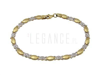 Elegancka złota bransoletka  VERONA - YES