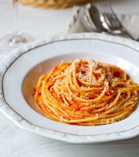 Спагетти с зимним соусом маринара