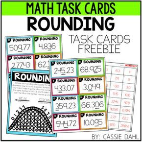 Do your students need some extra practice with rounding? This set of 32 task cards challenges students to round numbers to the nearest thousand all the way down to the nearest thousandth. This resource includes 32 task cards, recording sheet, answer