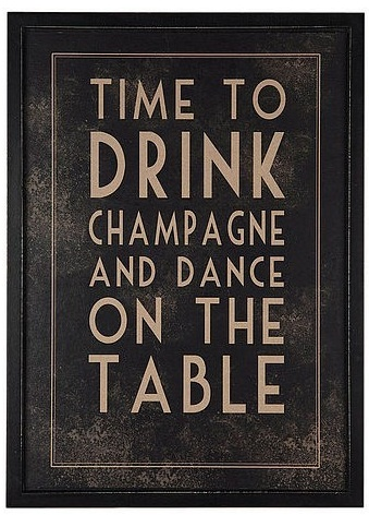 new years eve - time to drink champagne and dance on the