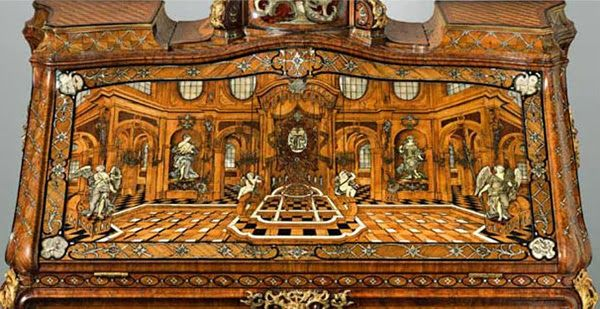 Mechanical furniture designed by the father and son team of Abraham and David Roentgen: elaborate 18th-century technical devices disguised as desks and tables.