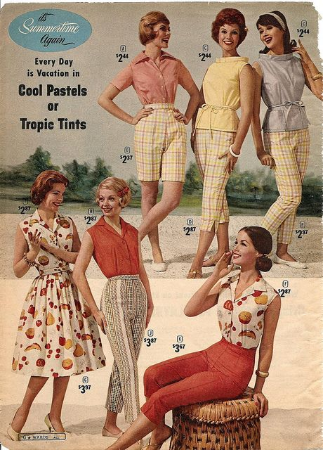 Montgomery Ward summer 1961 | note the petal pushers yep that's what they were called :) - via Flickr.