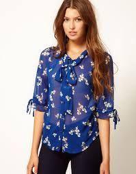 Resultado de imagen para modelos de blusas de chifon