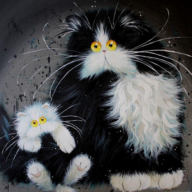 Kim Haskins -  Tail of Two Kitties (900x901)