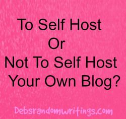 Trying to decide if you want to self host your blog? Debbie wrote a great post for those non-techy bloggers out there (like myself). :)
