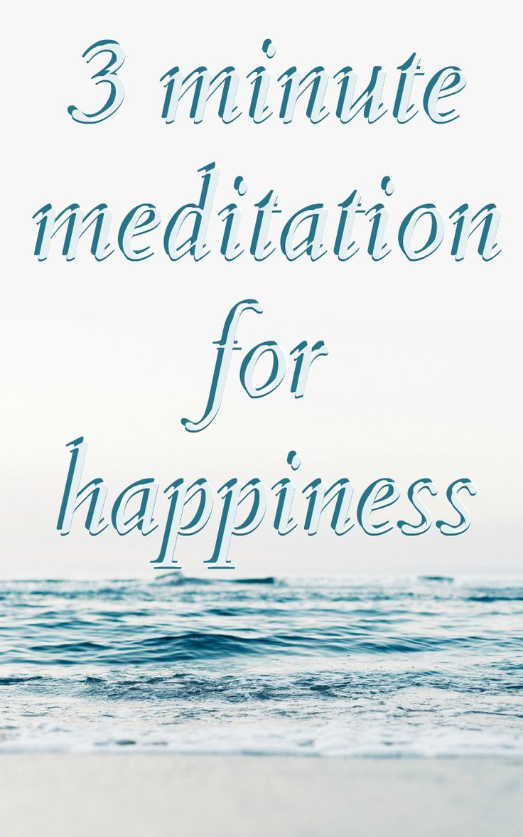 This is THE BEST meditation ever! Just 3 minutes and I feel happy and good about myself and life.
