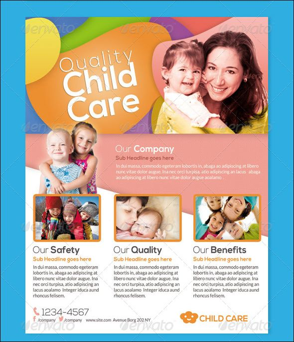 Captivating Baby Daycare Flyer Template Children Care Flyer/ Magazine Ad This Flyer Can  Be Used In With Advertisement Flyer Maker