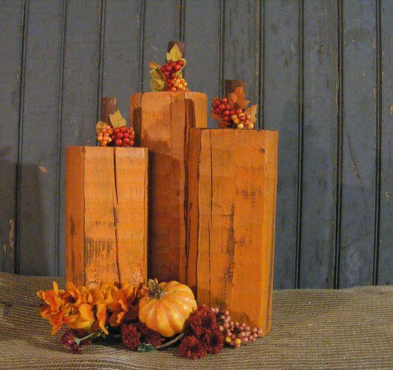 Wood Pumpkin - Rustic Fall decor - Primitive Thanksgiving Decor - Primitive Pumpkins - Rustic Thanksgiving - Rustic Halloween