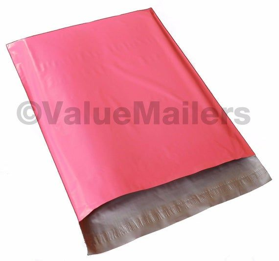 """9x12 HOT PINK POLY MAILERS Shipping Envelopes Self Sealing Mailing Bags 9/"""" x 12/"""""""