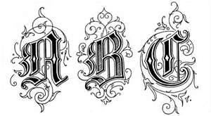 Old English Writing Tattoo Lettering