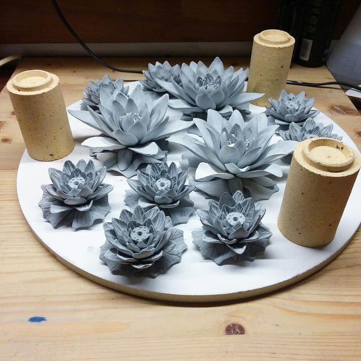 Porcelain lotus, ceramic flower, ceramic floral