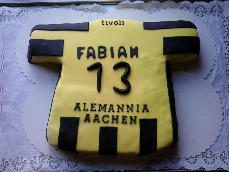 Gemaakt samen met mijn baas. Alemannia Aachen taart.