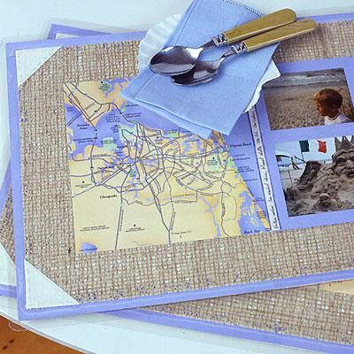 DIY Home Ideas: Scrapbook-Style Placemats