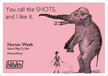 """You call the shots, and I like it."""" #NursesWeek"""