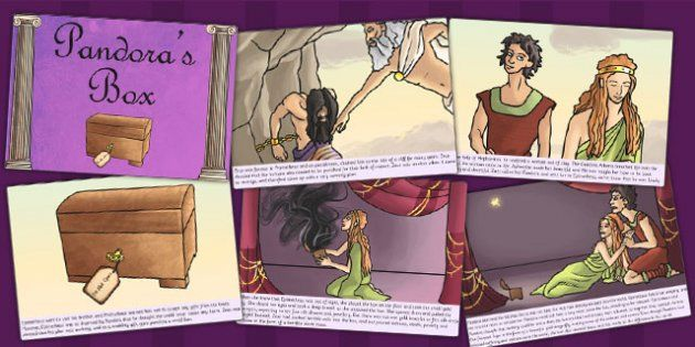 a description of a basic understanding of the story of pandoras box Explore this website about greek myths and legends to find out to the students to aid understanding of the age information from the story of pandora's box.