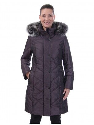 Manteau long matelassé par Styla / Long quilted coat by Styla