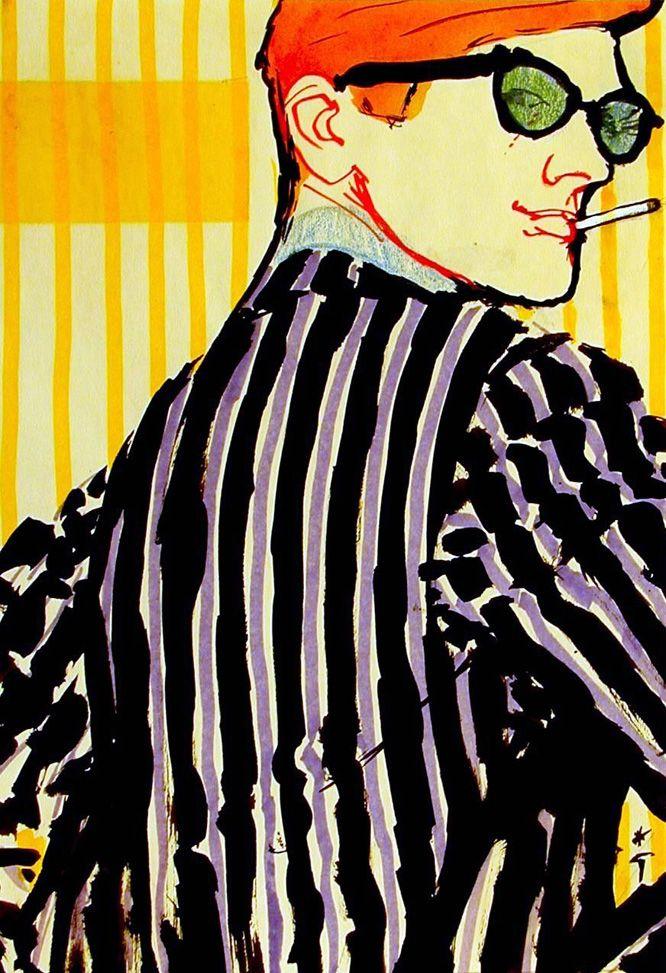 "Cover Design ""Sir"", 1972 | by René Gruau"