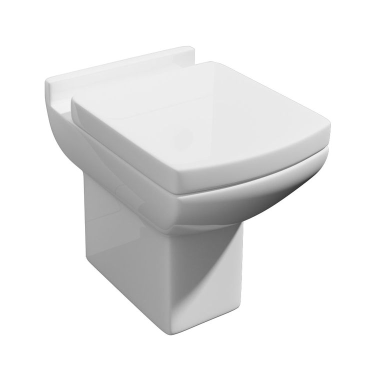 SHOP the Milan Square Back To Wall Toilet + Soft Close Seat at Victorian Plumbing UK