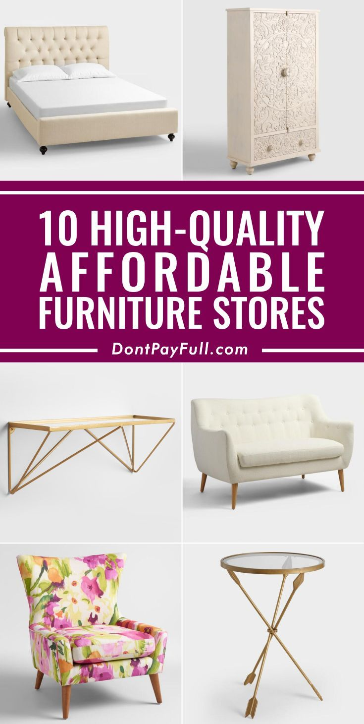 We found the 10 best cheap furniture stores that don't sacrifice quality for price and share how to maximize your savings at all of them. #DontPayFull