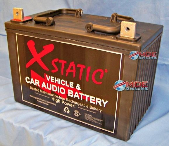 Xstatic Car Audio Battery - Model X3000 / 3000 Amp's! Made in USA! #XstaticBatcap