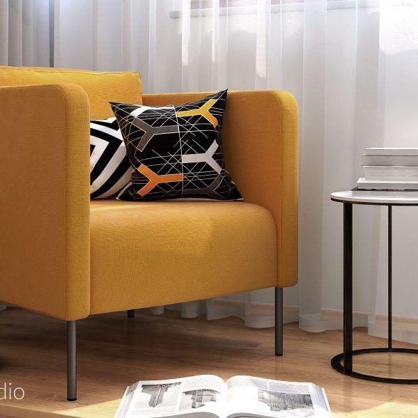 IKEA EKERÖ armchair + side table by B&B Italia
