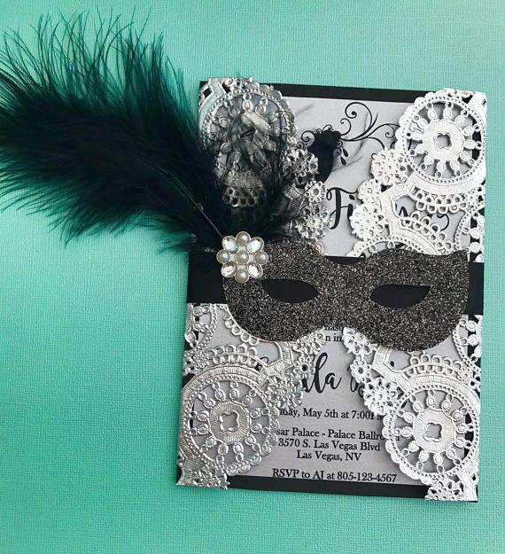 Hey, I found this really awesome Etsy listing at https://www.etsy.com/listing/515373262/masquerade-doily-invitation-birthday