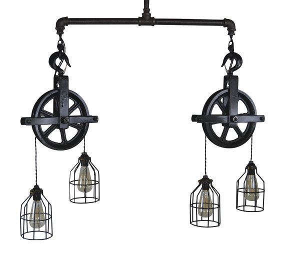 Items Similar To Rustic Light Pendant Lighting Pulley On Etsy: 1000+ Ideas About Pulley Light On Pinterest