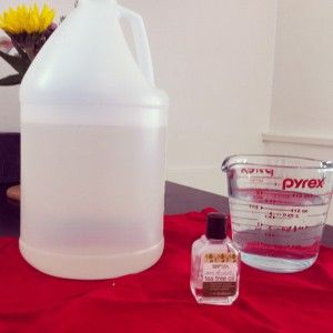 Nettoyeur pour douche  Eau, vinaigre, huile de théier