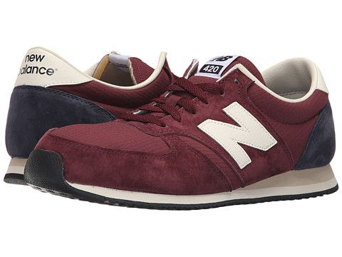 new balance 420 burgundy suede sneakers