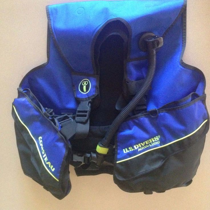 US Divers Aqualung Cousteau Dive Vest Blue Size XL Adjustable NEW #AquaLung