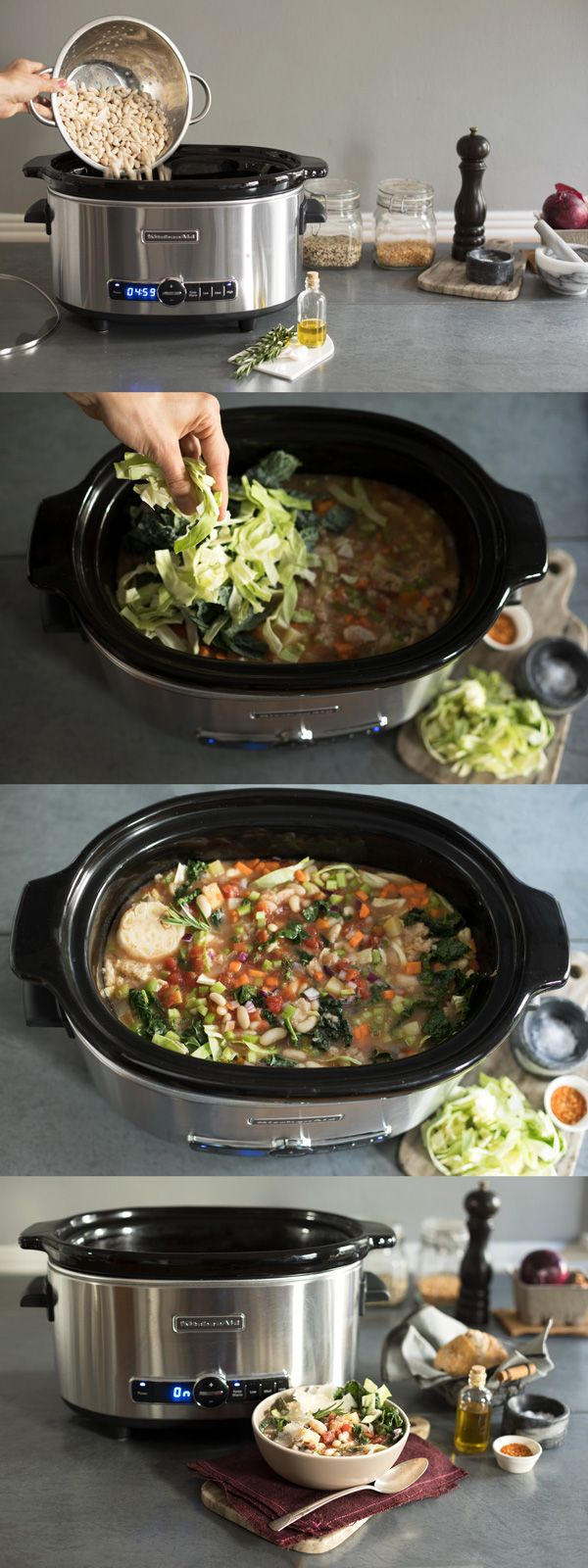 This Ribollita Tuscan Vegetable Stew, Made With The KitchenAid® Slow Cooker,  Is The