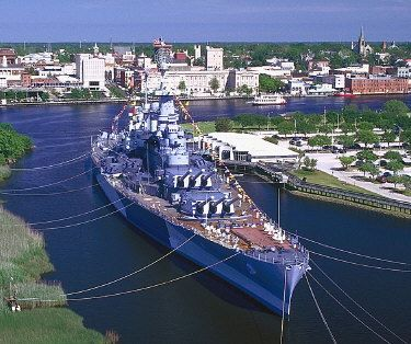 USS North Carolina Battleship - Wilmington, North Carolina, USA