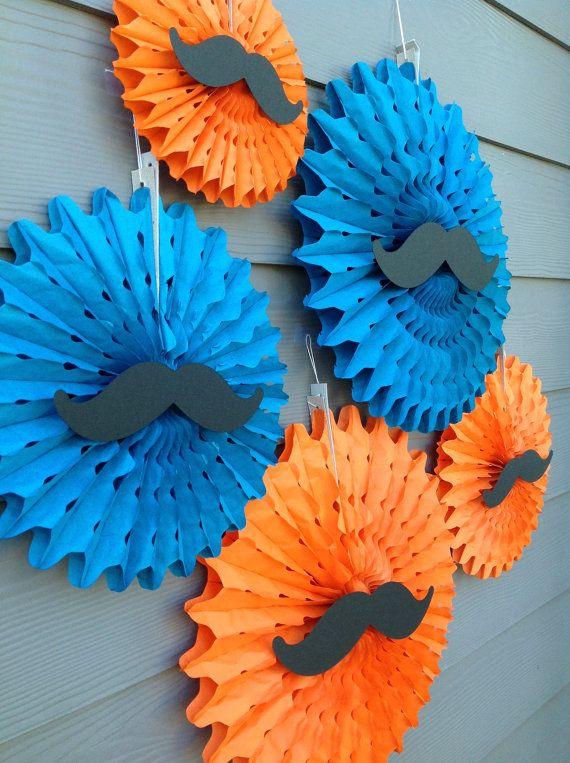 6 Pin Wheels/Paper Fan/Party Fan Decor  by EmeraldCityPaperie, $42.00